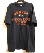 NWT NFL Men's T-Shirt Denver Broncos Short Sleeves Navy 100% COTTON LARGE - $12.19