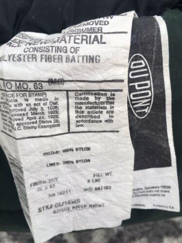"""SLUMBERJACK Sleeping Bag Rogue River Hollofil II Washable Dark Green 32"""" x 82""""  image 7"""