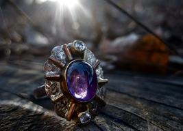 Haunted ring Unexplained Collection Luminescent Angels of the Violet flame - $444.44