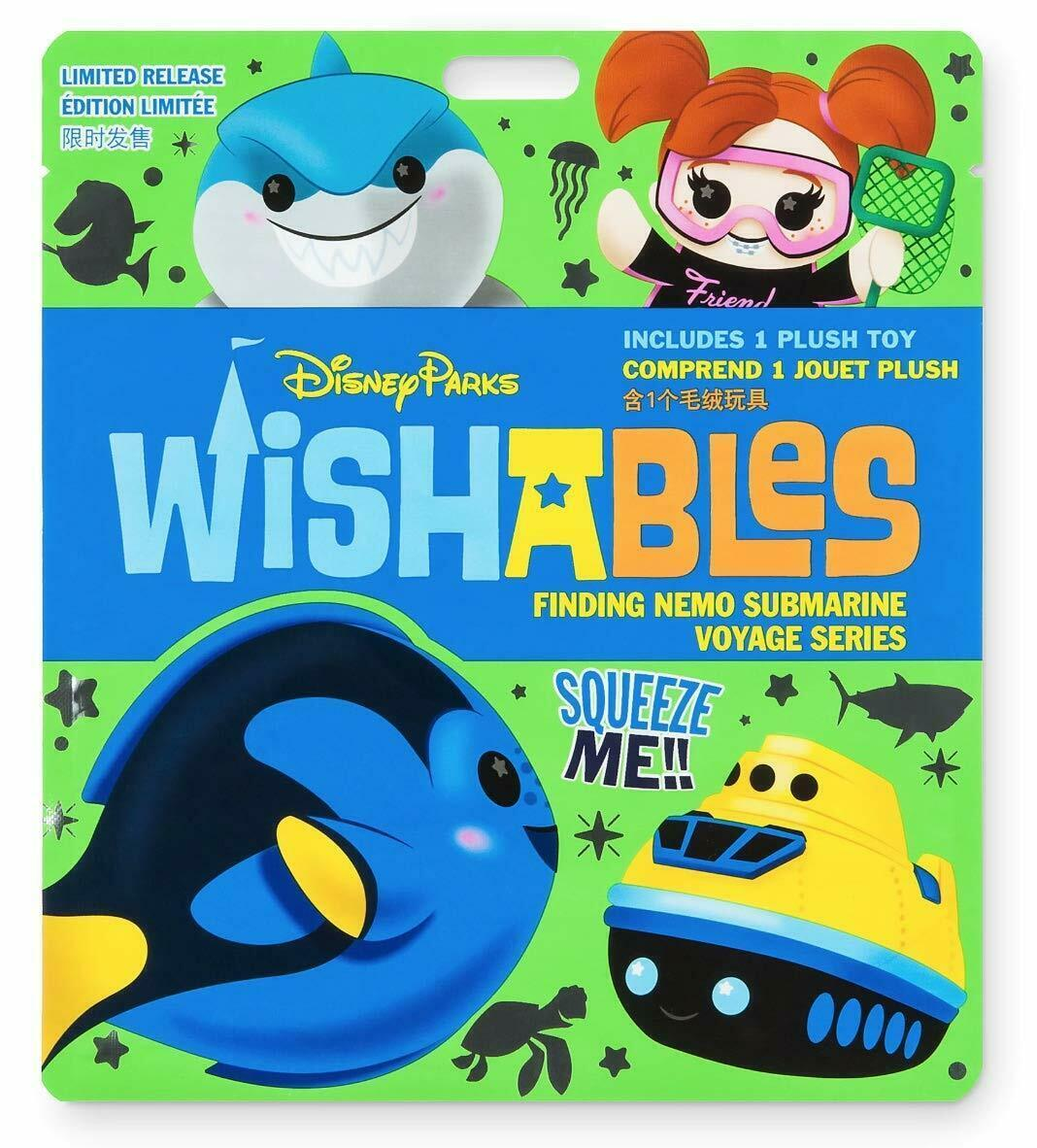Disney Parks Wishables Mystery Plush ~ Finding Nemo Submarine Voyage Series NEW - $17.81