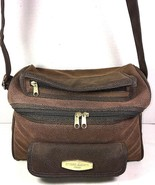 Ettore Bugatti Vintage Brown Faux Leather Travel Carry On Bag - $76.62