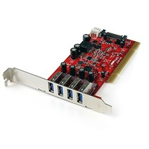 StarTech.com 4 Port PCI SuperSpeed USB 3.0 Adapter Card with SATA/SP4 Po... - $132.00