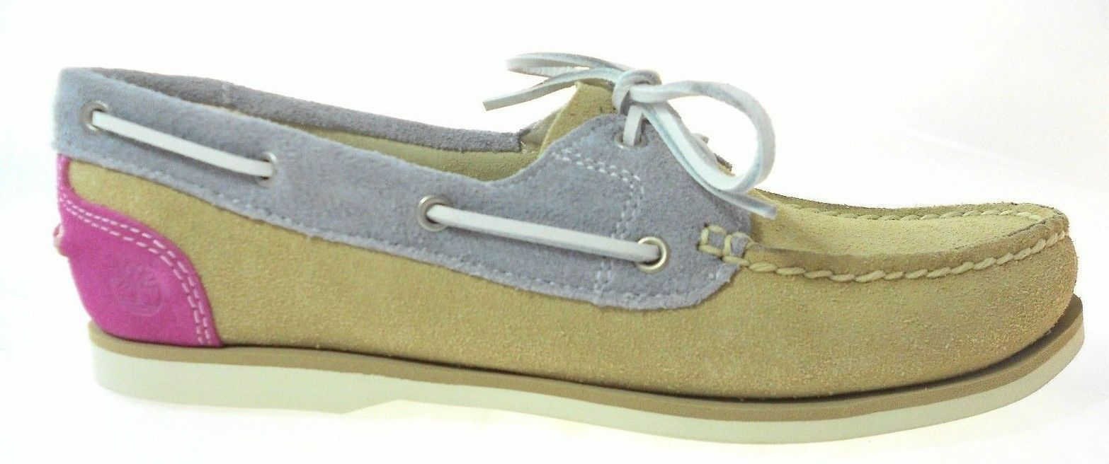 NEW! TIMBERLAND WOMEN'S EARTHKEEPERS CLASSIC SUEDE BOAT SHOES PINK DAHLIA 8018B