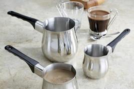 Turkish Coffee 3 Piece Stovetop Warmer Pot- Butter Warmer Milk Warmer New - $18.80