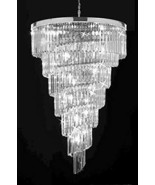 Retro Palladium Empress Crystal (Tm) Glass Fringe 7 Tier Chandelier Ligh... - $1,173.06