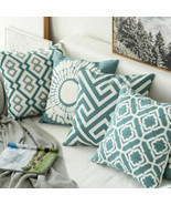 Stripe Pillowcase Cushion Case Home Decoration Cotton Linen Cushion Cove... - ₹285.96 INR