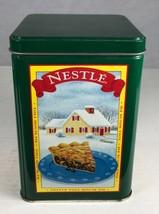 "Tin Box Nestle Toll House Chocolate Empty 6.25 x 4.25"" Decorative Metal - $6.42"
