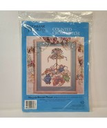 Vintage Candamar Designs Counted Cross Stitch Maypole Bunnies Picture 50... - $19.34
