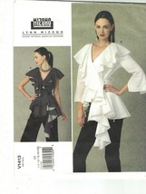 Vogue 11413 Lynn Mizono Pattern Ruffle Neck Side Tie Blouse Choose Size ... - $14.99