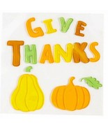 Harvest Gel Window Clings Give Thanks Pumpkins  - $2.00