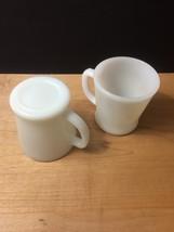 Set of 2 White D-Handle Fire King Mugs image 3