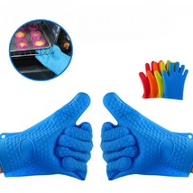 Silicone Barbecue Oven Mitt Food Grade Heat Resistant Kitchen Microwave ... - $15.60