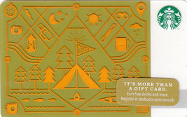 Starbucks 2014 Camping Collectible Gift Card New No Value - $4.99