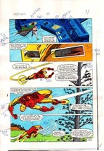 Original 1984 Iron Man 181 page 11 Marvel Comics color guide art: 1980's - $99.50