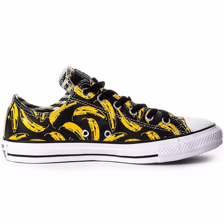 Converse Andy Warhol Chuck Taylor Lo Ox Leather Banana Velvet Underground BLACK image 2