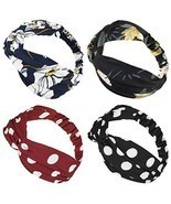 moonsix Headbands for Women, Elastic Turban Head Wrap Boho Floral Criss ... - $18.54 CAD