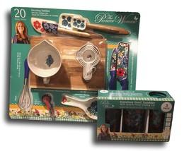 Pioneer Woman Utensil Set Dazzling Dahlias 20-Piece Kitchen Gadget Set a... - $102.10
