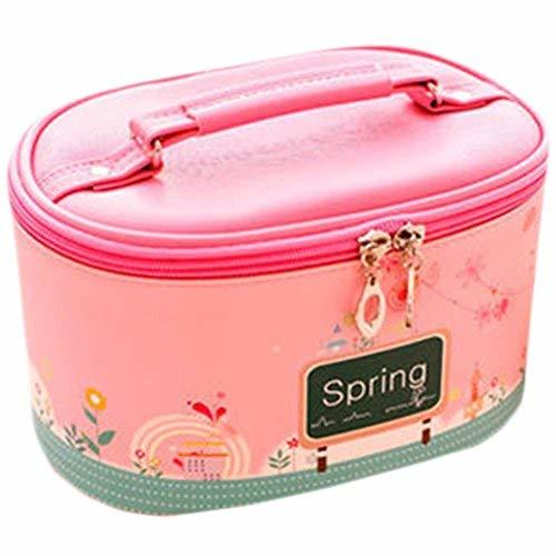 Lovely Cosmetics Receive Bag Bag Hand Bag Waterproof Makeup Box(Pink Spring)
