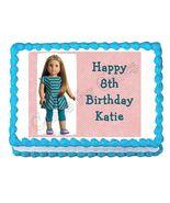 American Girl McKenna Edible Cake Image Cake Topper - $8.98+