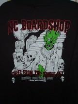Large NC Boardshop Triple set challenge 2008 black T Shirt skeleton skulls - $15.81
