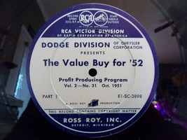 "Vintage Dodge/Chrysler ""The Value Buy for '52"" Dealer Profit Producing R... - £12.47 GBP"