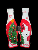 Coca-Cola 2017 Holiday Hinged Collectible Bottle Polar Bears - BRAND NEW - $37.13