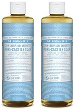Dr. Bronner's Pure-Castile Liquid Soap Shower and Travel Pack - Baby Uns... - $387,21 MXN