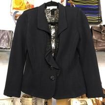 St. John Evening Black Jacket With Lace Back Sz 6 $1295 - $311.97