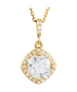 Diamond Halo-Styled Necklace In 14K Yellow Gold (1 1/6 ct. tw - $6,879.06