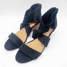 Lucky Brand Womens 9.5 Black Jamain Suede Twist Front Wedge Sandals - $27.67
