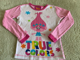 Trolls Girls Pink POPPY True Colors Snug Fit Long Sleeve Pajama Shirt 8 - $5.48