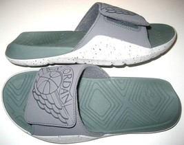 Jordan Hydro 7 Mens Slides Flip Flops Sandals Dark Grey Clay Green Free ... - $35.99