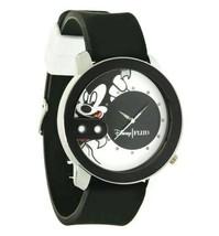 Nuevo Flud Mickey Mouse Rex Pose Blanco y Negro Acero Cuarzo Reloj Analógico 2
