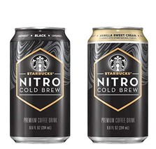 Starbucks Nitro Cold Brew Canned Coffee 9.6FL Ounce of Premium Coffee (2 Flavor  - $28.70