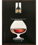 1990 Courvoisier Cognac PRINT AD Great Snifter Illustration! - $11.69