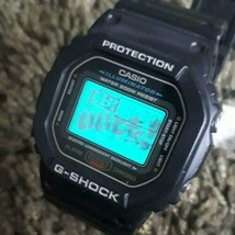 G-SHOCK CASIO You can laugh! Collaboration DW-5600E Rare Black Color Used - $575.18