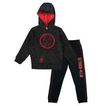 Spiderman Marvel Kids Boys Pants Sweatshirt Gray Grey Black Red Fleece 2-Piece - $38.99