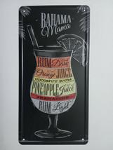 drinks cocktail - Tin Sign - Metal Plaque, Vintage Metal Wall Decor, Bar... - $15.67