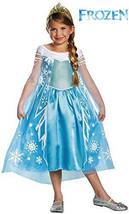 Elsa Costume 7/8 Medium Girls Frozen Elsa Costume DELUXE Disney Frozen NEW - $14.99