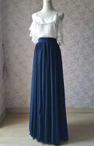 2020 Summer Bridesmaid Dress Maxi Chiffon Skirt White Ruffle Drape Chiffon Top  image 2