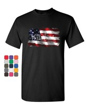 Distressed American Flag T-Shirt Land of the Free 4th of July Mens Tee S... - $8.61+