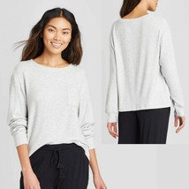 Stars Above NWOT Womens XL Heather Gray Cozy Lounge Long Sleeve Sweatshirt - $11.27