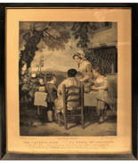 Antique 1798 George Keating Mezzotint Family Dinner Cottage Door After W... - $207.89