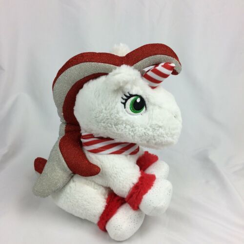 Primary image for Animal Adventure Candy Cane Color Unicorn Plush 2017 Christmas Xmas #t9