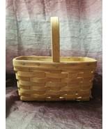 Vintage Longaberger Basket Handmade Bent Wood With Handwritten 1986 and ... - $16.99