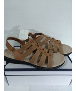 Women's CROFT & BARROW 'PEG' Tan OPEN TOED SANDALS Size 11 - $15.31