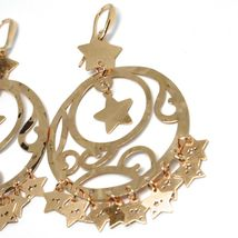 Drop Earrings 925 Silver, Stars, Disco Perforated, Wavy, le Favole image 3