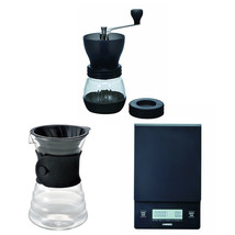 Hario V60 Scale, Decanter & Coffee Mill - Three Products All Sold Together - $113.84