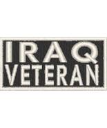 Iraq Veteran Patch with Hook & Loop Travel Patriotic Morale Emblem White... - $11.38