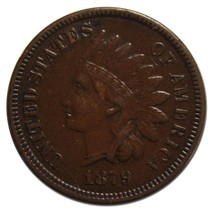 1879 Indian Head Penny / Cent Coin Lot# MZ 4416